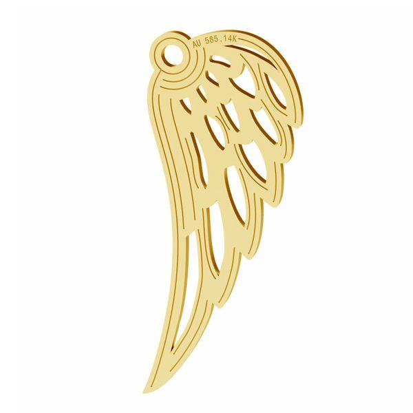 Zawieszka skrzydła anioła, ze złota 14K, LKZ-01305 - 0,30