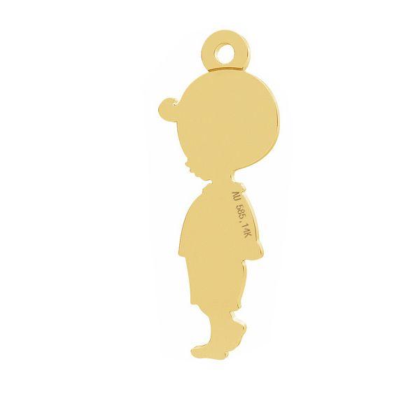 Dziecko chłopiec zawieszka, ze złota próby 585, LKZ-01284 - 0,30