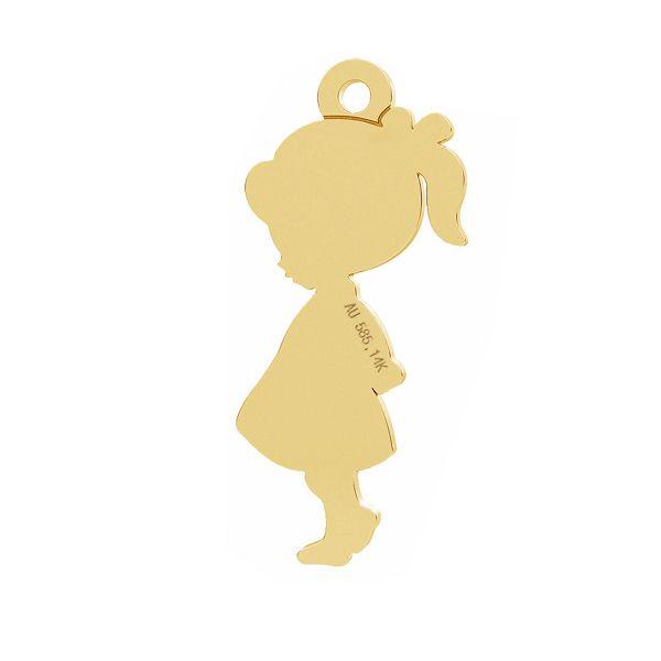 Dziecko dziewczynka zawieszka, ze złota próby 585, LKZ-01283 - 0,30