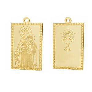 Złoty medalik Matka Boska, komunijny, złoto próby 585 14K, LKZ-01373 - 0,30