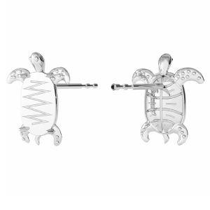 Żółw kolczyki baza do Swarovskiego, ze srebra 925, ODL-00368 KLS (2602 MM 8,0X 5,5)