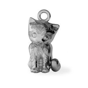 Kot zawieszka, ze srebra próby 925, ODL-00386