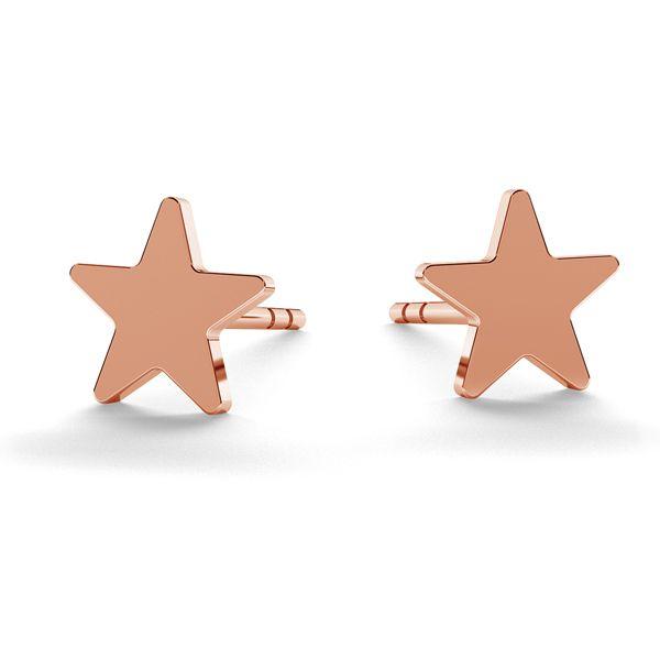 Gwiazda kolczyki, srebro próby 925, LK-0617 KLS - 0,50