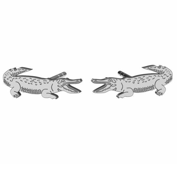 Krokodyl kolczyki, srebro próby 925, LK-1388 KLS - 0,50