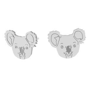 Koala miś kolczyki, srebro próby 925, LK-1398 KLS - 0,50