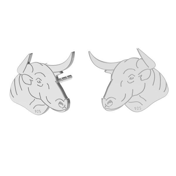 Byk kolczyki, srebro próby 925, LK-1401 KLS - 0,50