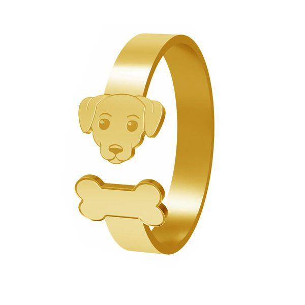 Pierścionek pies, ze srebra próby 925, LK-1403 - 0,50