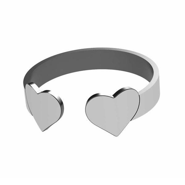 Pierścionek serce, ze srebra próby 925, LK-1404 - 0,50