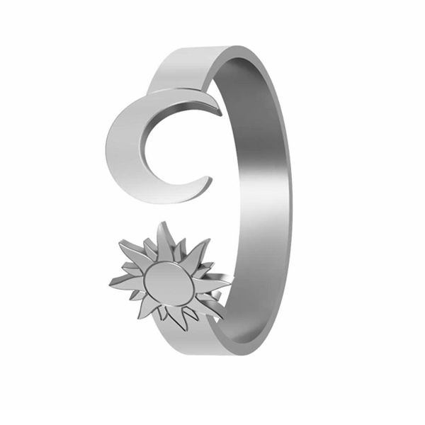 Pierścionek słońce i księżyc, ze srebra próby 925, LK-1405 - 0,50