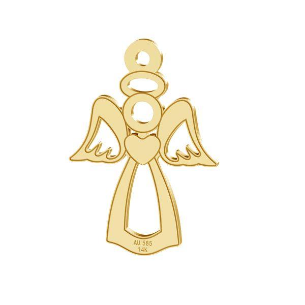 Anioł zawieszka, złoto próby 585 14K, LKZ-00332 - 0,30