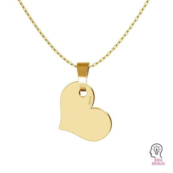 Serce blaszka złoto 14K LKZ-00573 - 0,30
