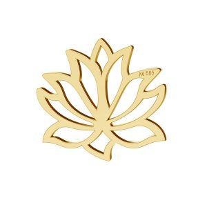 Kwiat Lotosu, zawieszka złoto 14K, LKZ-00771 - 0,30