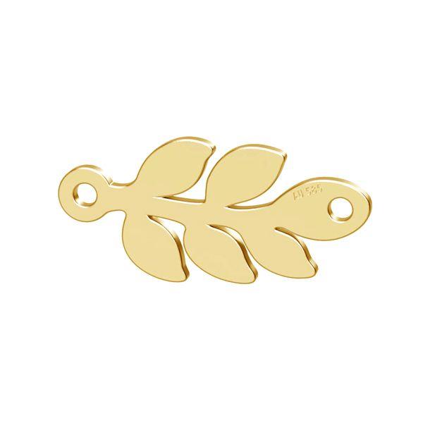 Liść monstery, zawieszka złoto 14K, LKZ-00809 - 0,30