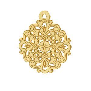 Zawieszka złota rozeta, złoto 14K, LKZ-00382 - 0,30