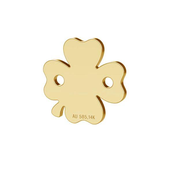 Koniczyna zawieszka łącznik złoto 14K, LKZ-00943 - 0,30