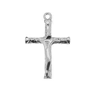 Krzyż zawieszka, ze srebra próby 925, KR-00002