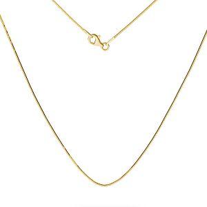 Złota żmijka łańcuszek, SG-SNAKE 020 DC8L AU 585, 14K - 45 cm