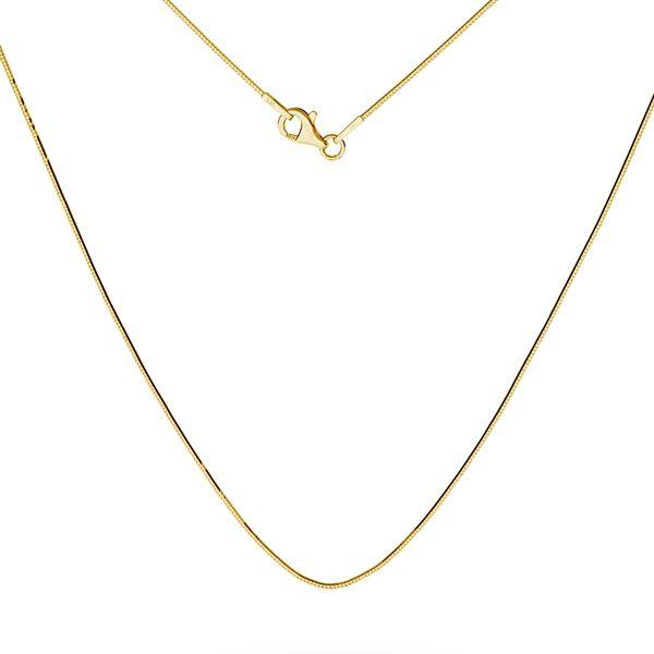 Złota żmijka łańcuszek, SG-SNAKE 020 DC8L AU 585, 14K - 50 cm