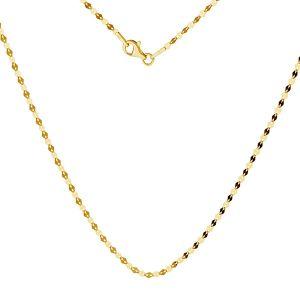 Złoty łańcuszek do celebrytek kawa blaszki 14K, SG-FBL 030 AU 585, 14K - 50 cm