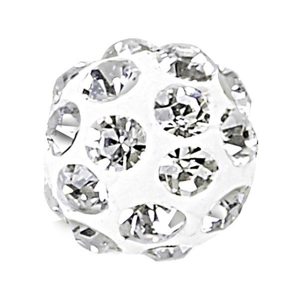Discoball Biały z otworem do połowy, 86301 MM 6,0 01 001