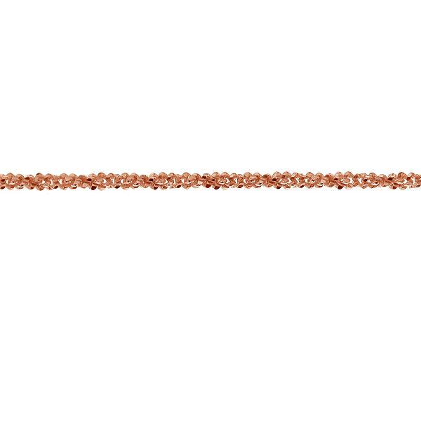 Błyszczący łańcuszek w metrażu, srebro 925, SUGAR 035