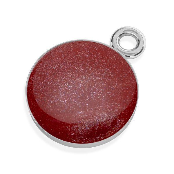Zawieszka z czerwoną żywicą, srebro próby 925, SILVEXCRAFT-PENDANT 004