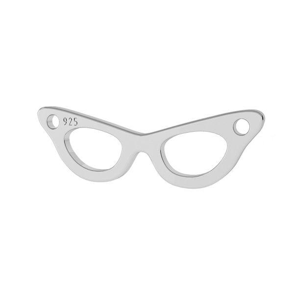 Okulary zawieszka łącznik, srebro próby 925, LK-1425 - 0,50
