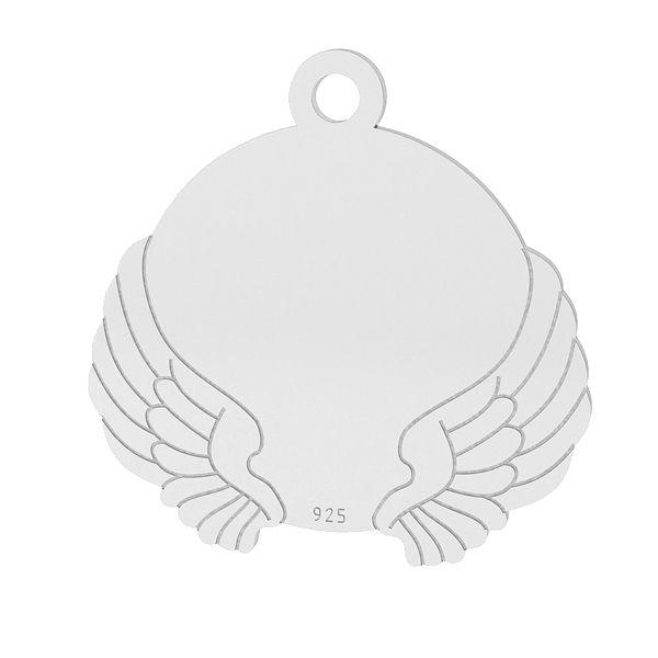Blaszka ze skrzydłami zawieszka, srebro próby 925, LK-1469 - 0,50