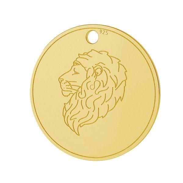 Znak zodiaku Lew zawieszka, srebro próby 925, LK-1451 - 0,50