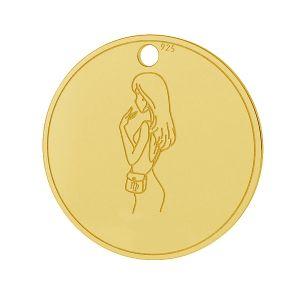 Znak zodiaku Panna zawieszka, srebro próby 925, LK-1452 - 0,50