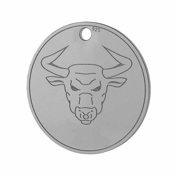 Znak zodiaku Byk zawieszka, srebro próby 925, LK-1448 - 0,50