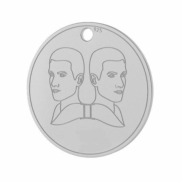 Znak zodiaku Bliźnięta zawieszka, srebro próby 925, LK-1449 - 0,50