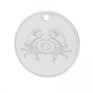 Znak zodiaku Rak zawieszka, srebro próby 925, LK-1450 - 0,50