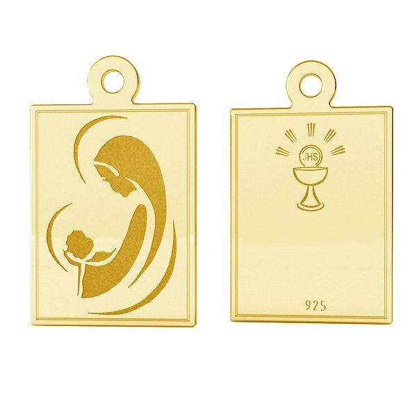 Srebrny medalik z wizerunkiem, srebro próby 925, LK-1486 - 0,50