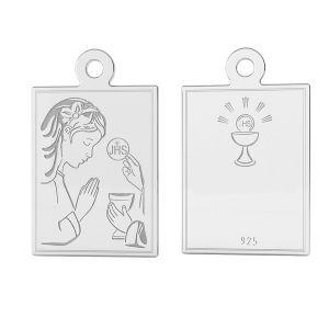 Srebrny medalik dla dziewczynki na Komunię, srebro próby 925, LK-1488 - 0,50