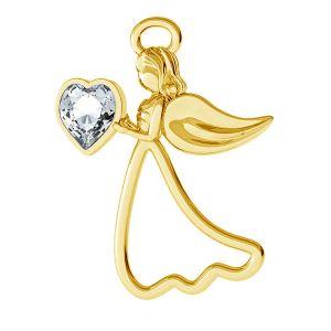 Anioł zawieszka z kryształem Swarovskiego, srebro 925, ODL-00351 ver.2