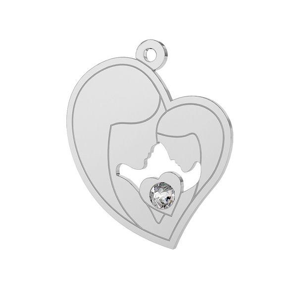 Matka i córka zawieszka z kryształem Swarovskiego, srebro 925, LK-0379 ver. 2
