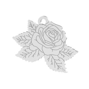 Róża zawieszka, ze srebra próby 925, LK-1476 - 0,50