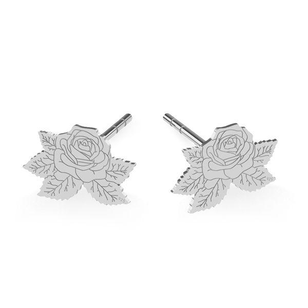 Róża kolczyki, srebro próby 925, LK-1477 KLS - 0,50