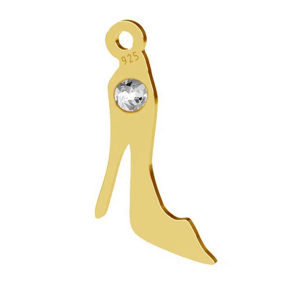 But szpilka zawieszka z kryształem Swarovskiego, srebro 925, LK-1493 - 0,50