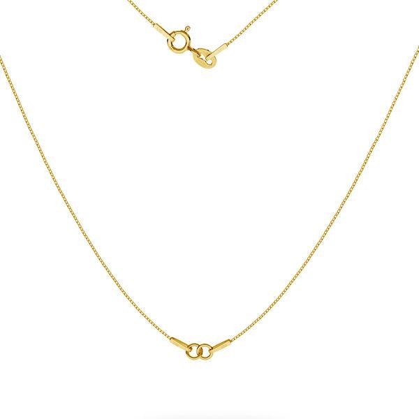 Złoty łańcuszek baza do naszyjników, zloto próby 585, SG-CHAIN 3 - (20+20 cm) AU 585 14K