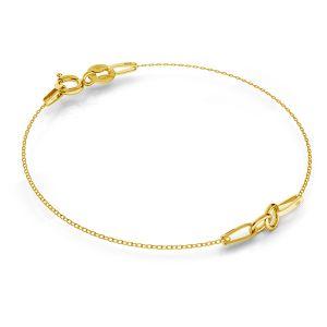 Złota baza do bransoletek, złoto 585, SG-BRACELET 2 - (7+7 cm) AU 585 14K