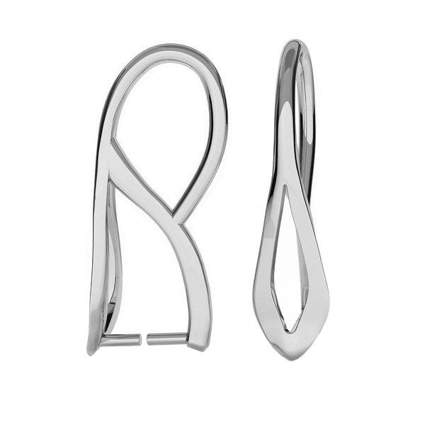 Srebrny zaciskany krawat do kamieni i kryształów Swarovskiego, KRP-62