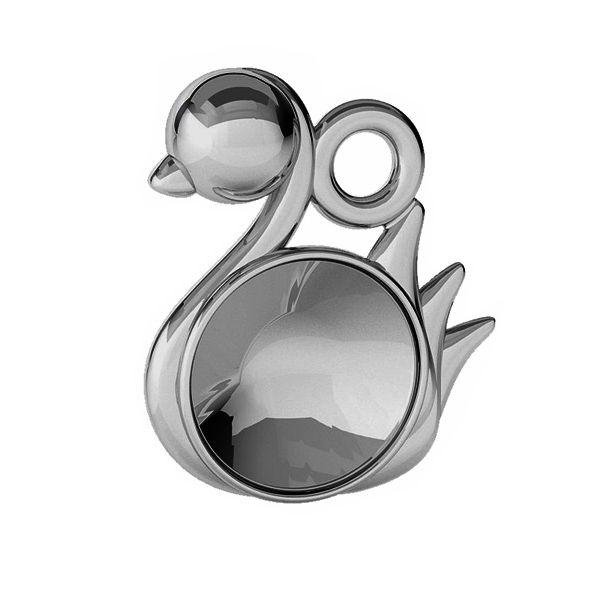Łabędź ptak zawieszka baza do Rivoli Swarovskiego 6 mm, srebro 925, ODL-00450 (1122 SS 29)