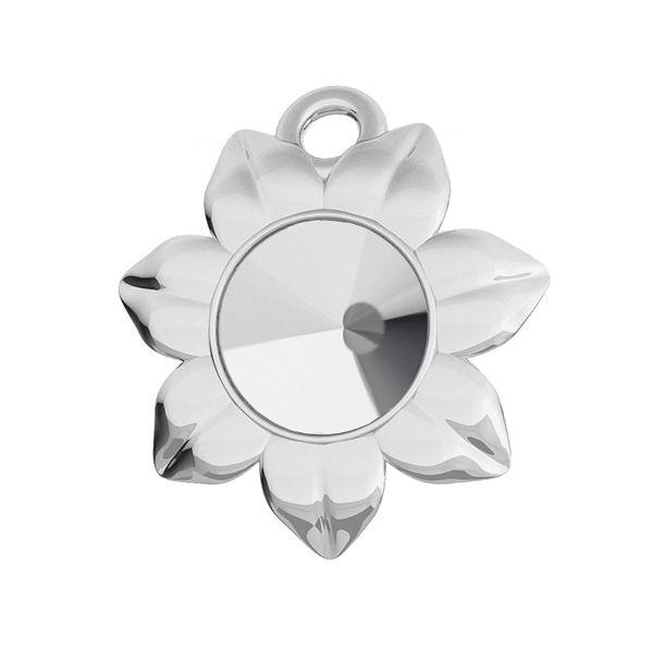 Kwiatek zawieszka baza do Rivoli Swarovskiego 6 mm, srebro 925, ODL-00448 (1122 SS 29)