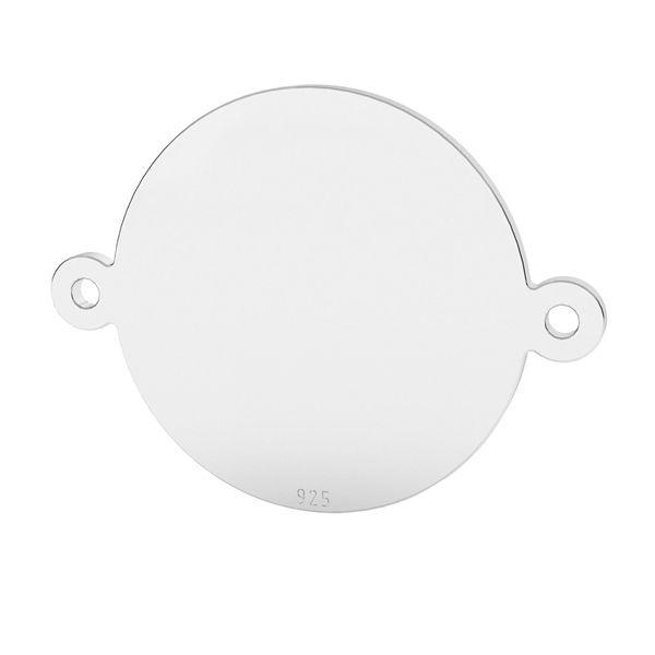 Okrągła blaszka łącząca ze srebra próby 925, LK-1522 - 0,50