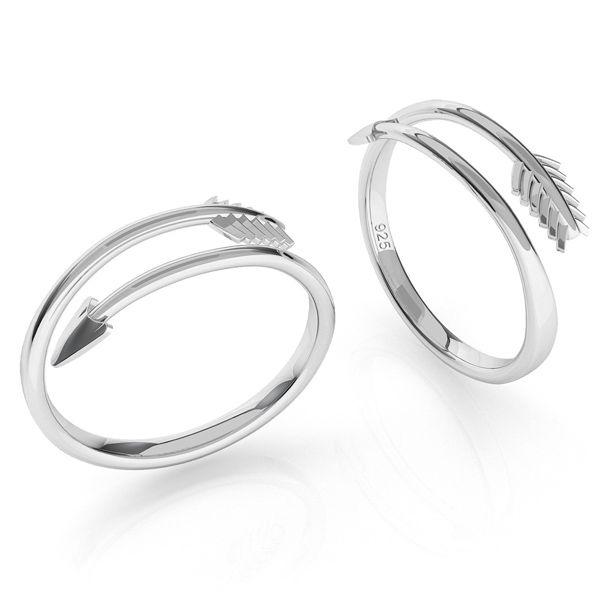 Pierścionek strzała srebro 925, ODL-00451
