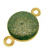 Zawieszka łącznik z barwioną żywicą, srebro próby 925, SILVEXCRAFT-PENDANT 012