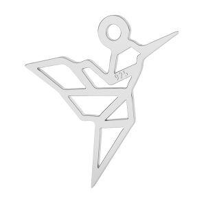 Kot origami zawieszka ze srebra próby 925, LK-1503 - 0,50