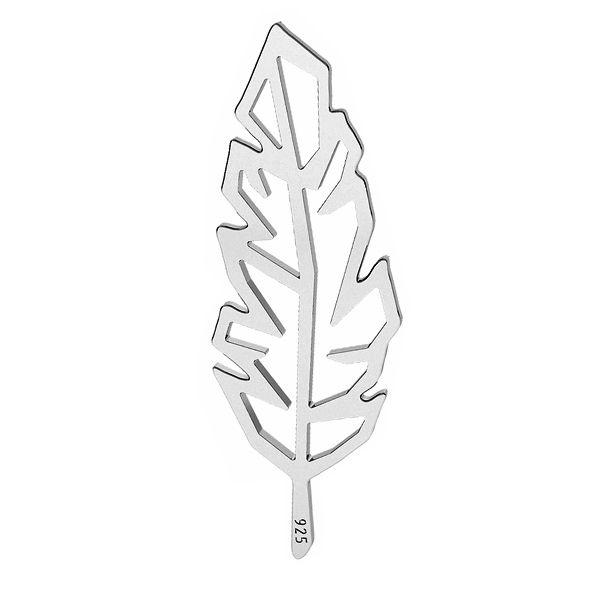 Pióro origami zawieszka łącznik ze srebra próby 925, LK-1505 - 0,50